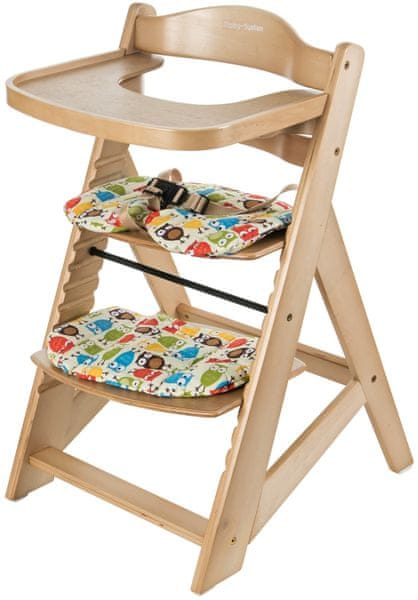 Sun Baby Dřevěná rostoucí židlička Woody, Natural