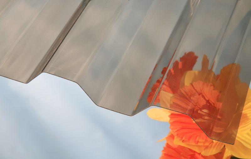 LanitPlast Trapézový polykarbonát Marlon CS síla 0,8 mm bronz 1,06x3 m
