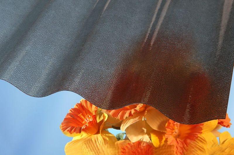 LanitPlast Vlnitý polykarbonát Marlon CSE STRONG síla 1,3 mm bronz 1,06x3 m