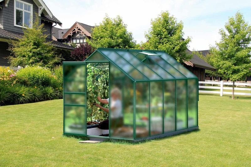 VITAVIA skleník VITAVIA VENUS 6200 matné sklo 4 mm zelený