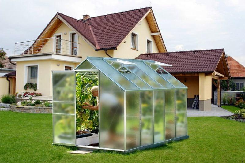 VITAVIA skleník VITAVIA VENUS 6200 matné sklo 4 mm stříbrný