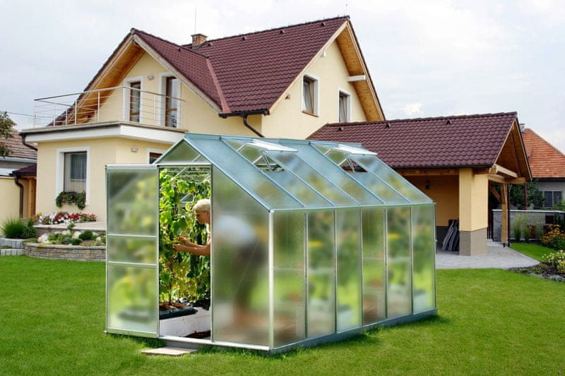 VITAVIA skleník VITAVIA VENUS 7500 matné sklo 4 mm stříbrný