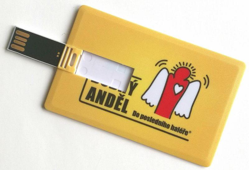 Dobrý Anděl 8GB Flashdisk ve tvaru kreditní karty