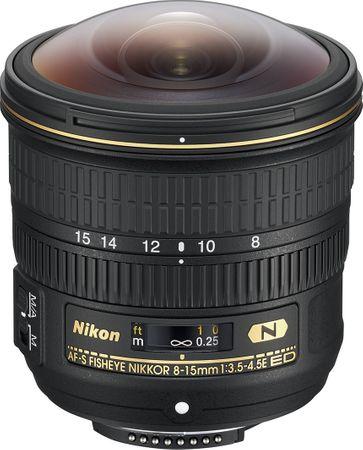 Nikon objektiv Nikkor AF-S 8-15 mm f/3,5-4E ED Fisheye