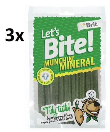 Brit pasji priboljški Brit Lets Bite Munchin Mineral 3x105g