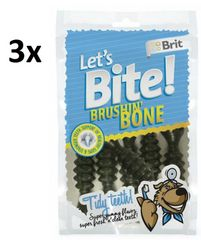 Brit pasji priboljški Brit Lets Bite Brushin Bone 3x90g