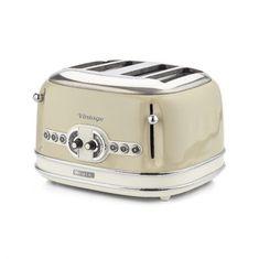 Ariete toaster Vintage, 4 rezine 156, bež