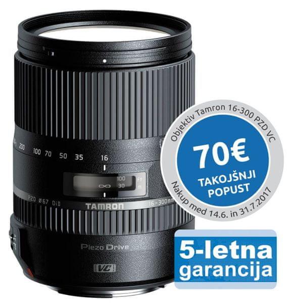 Tamron 16-300 mm AF f/3,5-6,3 Di-II VC PZD pro Canon (5 let záruka)