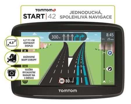 TomTom Start 42 Lifetime GPS