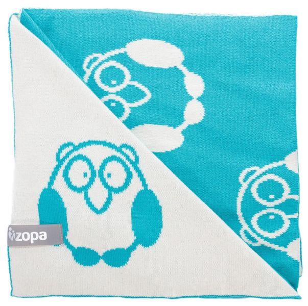 ZOPA Dětská deka Little Owl, Mint