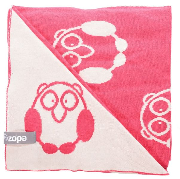 ZOPA Dětská deka Little Owl, Redwine