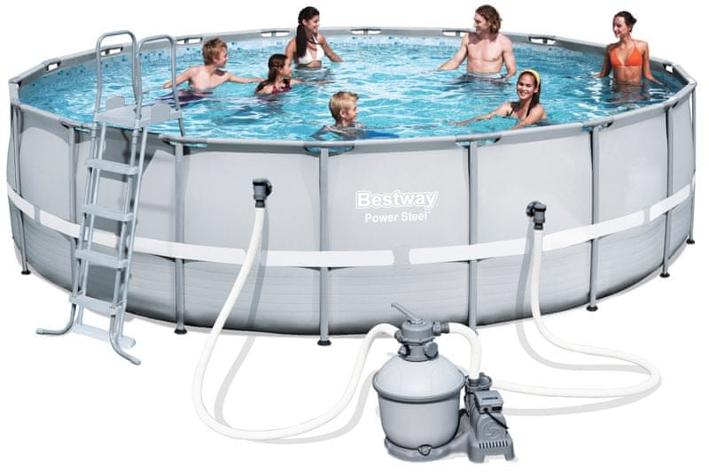 Bestway 5.49 m x 1.32 m Power Steel Frame Pool Set s pískovou filtrací