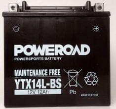 Poweroad akumulator za motor YTX14L-BS (brez vzdrževanja, 12V 14Ah, 150 x 87 x 146)