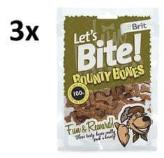 Brit pasji priboljšek Let's Bite Bounty Bones 3x150g