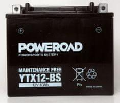Poweroad akumulator za motor YTX12-BS (brez vzdrževanja, 12V 10Ah)