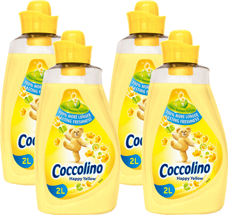 Coccolino mehčalec za perilo Happy Yellow, 4 x 2 l