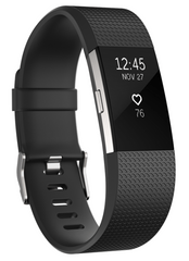 Fitbit Charge 2, Black/Silver, Small