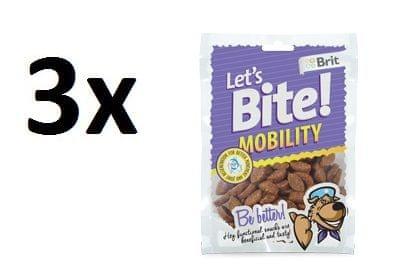 Brit pasji priboljški Lets Bite Mobility 3x150g