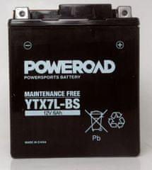 Poweroad akumulator za motor YTX7L-BS (brez vzdrževanja, 12V 6Ah)