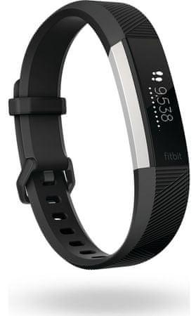 Fitbit Alta HR Fitness karkötő, Fekete, S