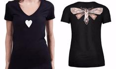 KlokArt dámské černé tričko Stanley Stella Bella