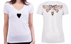 KlokArt dámské bílé tričko Stanley Stella Bella