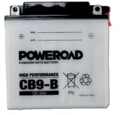 Poweroad akumulator za motor CB9-B (standardni, 12V 9Ah)
