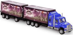 GearBox Ciężarówka z przyczepą 1:32, niebieska