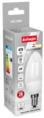 ActiveJet LED žarnica 6 W, E14, nevtralna