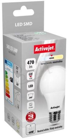 ActiveJet LED žarnica, 6 W, E27, nevtralna svetloba