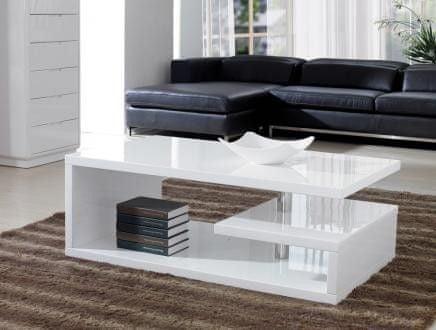TIERA OP, konferenční stolek, bílý lak