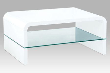 Konferenční stolek AHG-010 WT, sklo/vysoký lesk bílý