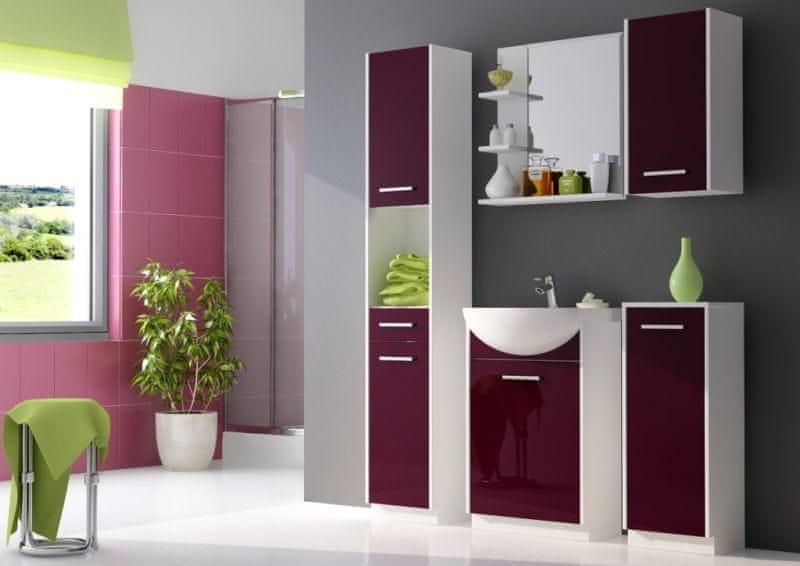 NANCY, koupelnová sestava fialová, BEZ UMYVADLA