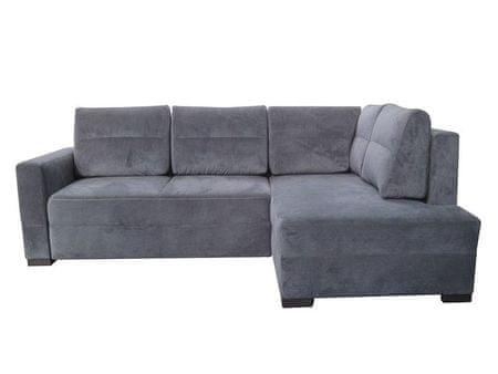Rohová sedačka ALAN LUX, pravá, šedá