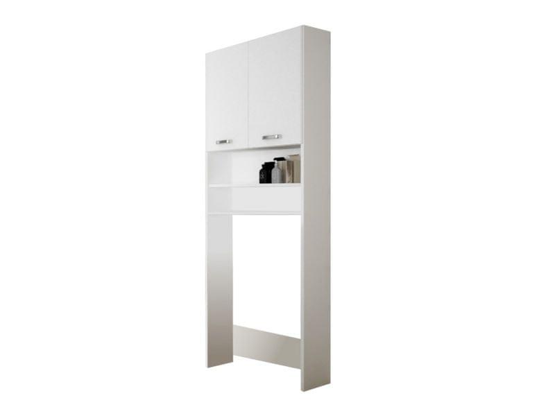 SINDY 901, skříňka nad pračku, alpská bílá/bílý lesk