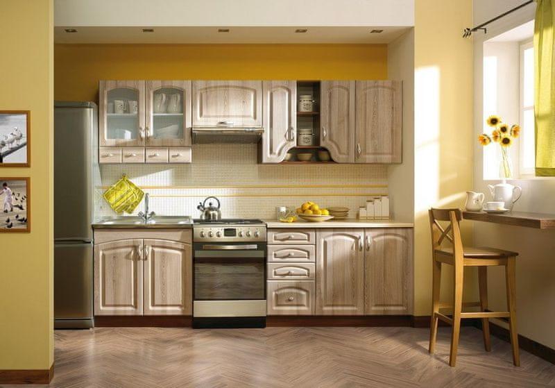 Kuchyně DELICJA RETRO 200/260, cl. dub messina