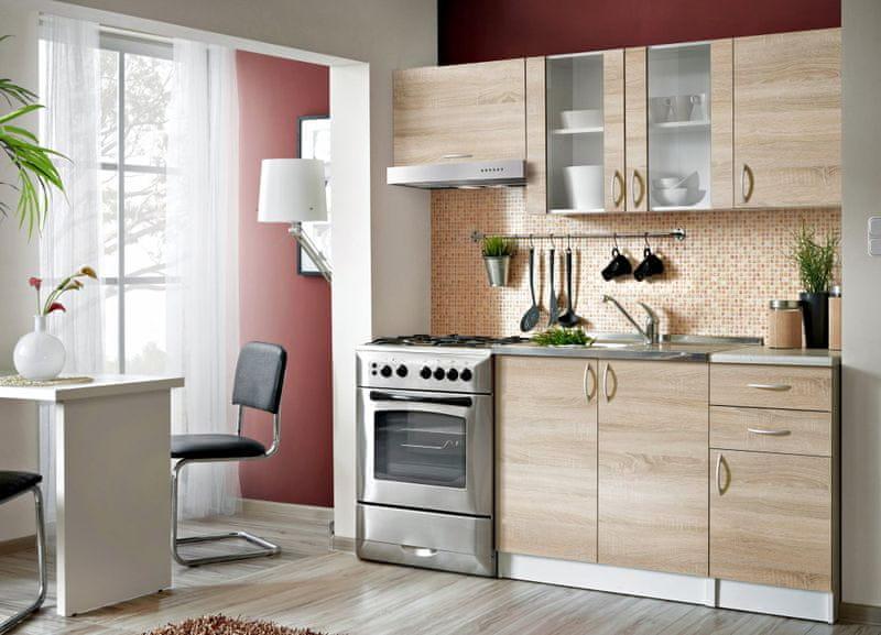 Kuchyně JOLANA II 120/180 cm, dub sonoma