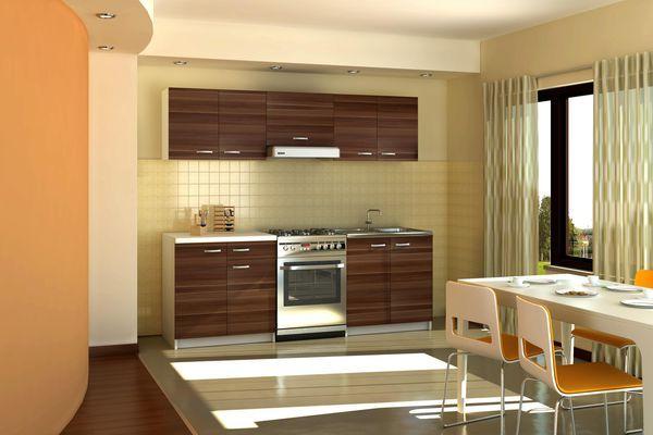 Kuchyně SONNIA 160/220 cm, švestka wallis