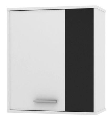 Závěsná skříňka ZU13, černá/bílá