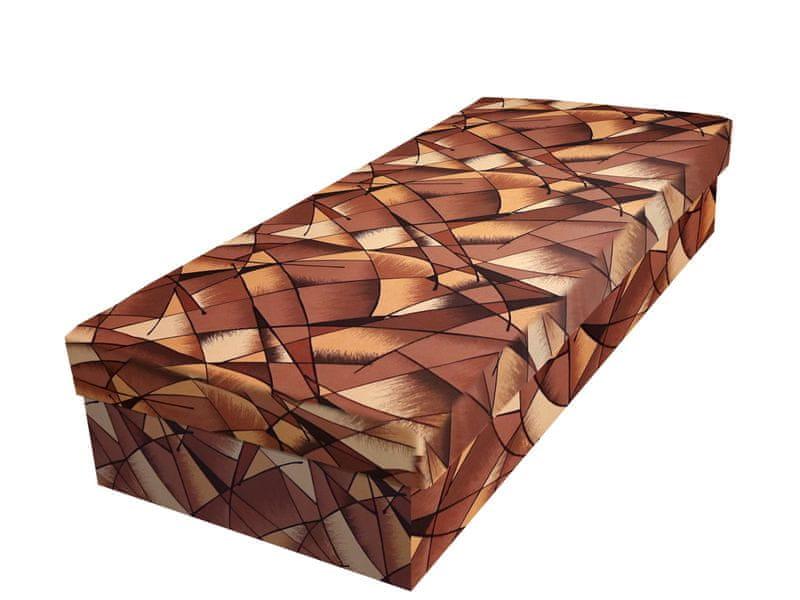 Válenda JUNIOR 80x195 cm, hnědožlutá látka
