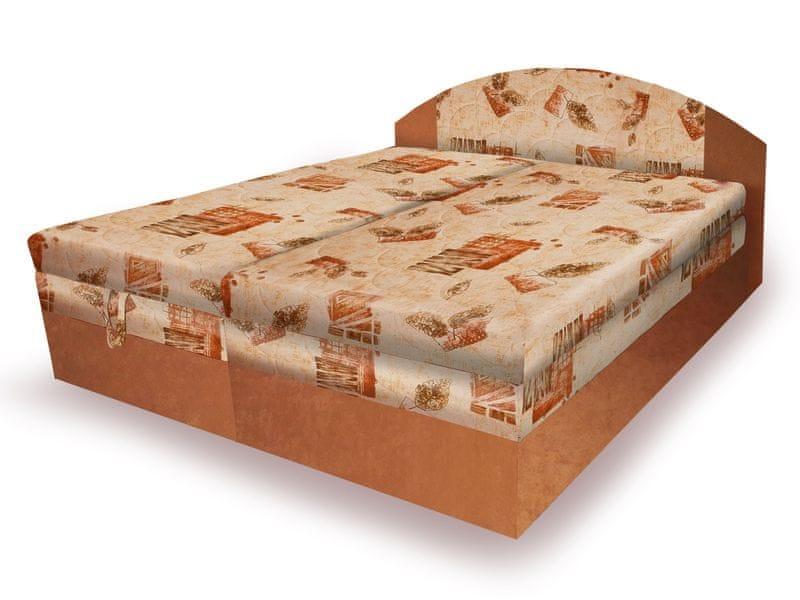Polohovací čalouněná postel VESNA 180x200 cm, béžová látka