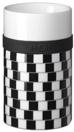 PO Ring Mug porcelansta skodelica, črna