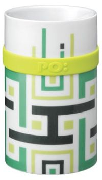 PO Ring Mug porcelanasta skodelica, zelena