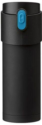 PO Pao termoska s louhovacím sítkem 350 ml černá
