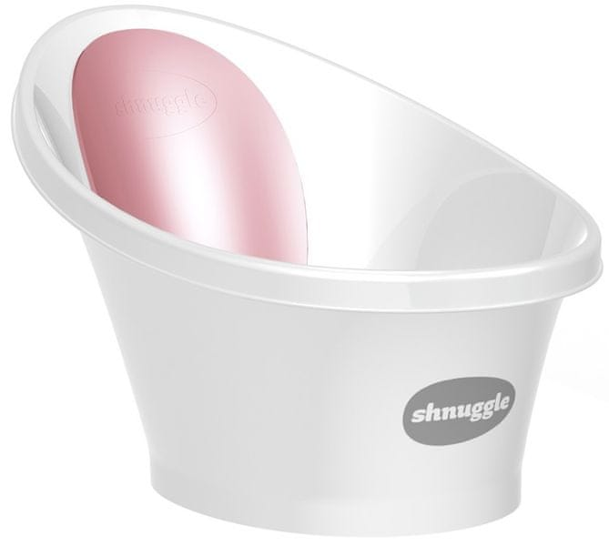 SHNUGGLE Vanička bílá s růžovou opěrkou