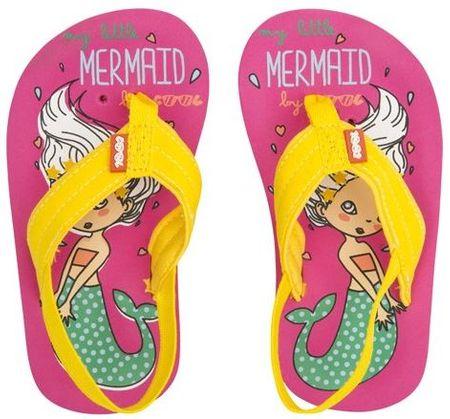 Cool Shoe otroške japonke My Sweet Mermaid, roza/rumene, 25-26