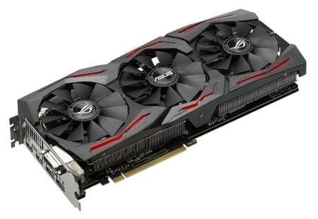 Asus grafična kartica GeForce GTX 1080 OC Strix, 11GBPS, 8GB GDDR5X, PCI-E 3.0
