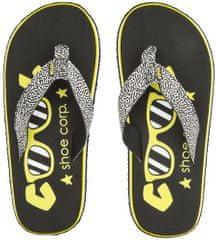 Cool Shoe otroške japonke Eve Slight Girl Spoty, črne