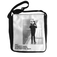 MFF Karlovy Vary unisex čierna taška s bielou chlopňou UNI
