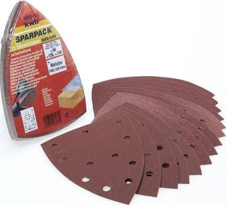 KWB samolepilni brusni papir za les in kovino, 15 kosov različne granulacije (493070)